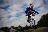 #186 (KLESHCHENKO Evgeny) RUS at the UCI BMX Supercross World Cup in Papendal, Netherlands.