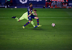 January 11, 2019 - Valencia, U.S. - VALENCIA, SPAIN - JANUARY 10: Jose Luis Morales, forward of Levante UD competes for the ball with Jeison Murillo, defender of FC Barcelona during the Copa del Rey match between Levante UD and FC Barcelona at Ciutat de Valencia on January 10, 2019 in Valencia, Spain. (Photo by Carlos Sanchez Martinez/Icon Sportswire) (Credit Image: © Carlos Sanchez Martinez/Icon SMI via ZUMA Press)