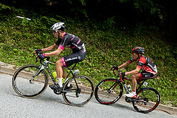 Tadej Pogacar (SLO) of Rog - Ljubljana and Hermann Pernsteiner (AUT) of Amplatz - BMC during Stage 3 of 24th Tour of Slovenia 2017 / Tour de Slovenie from Celje to Rogla (167,7 km) cycling race on June 16, 2017 in Slovenia. Photo by Vid Ponikvar / Sportida