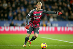 Leicester City goalkeeper Kasper Schmeichel during the Premier League match at the King Power Stadium, Leicester.