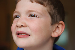 Portrait of white boy