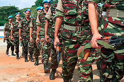 KISANGANI, DEMOCRATIC REPUBLIC OF CONGO - JULY 1, 2001 - United Nations troops in the rebel held city of Kisangani in the Democratic Republic of Congo. (PHOTO © JOCK FISTICK)