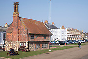 Quaint timber-framed 16th Century Moot Hall museum - The Town Hall - in Aldeburgh, Suffolk, England, UK