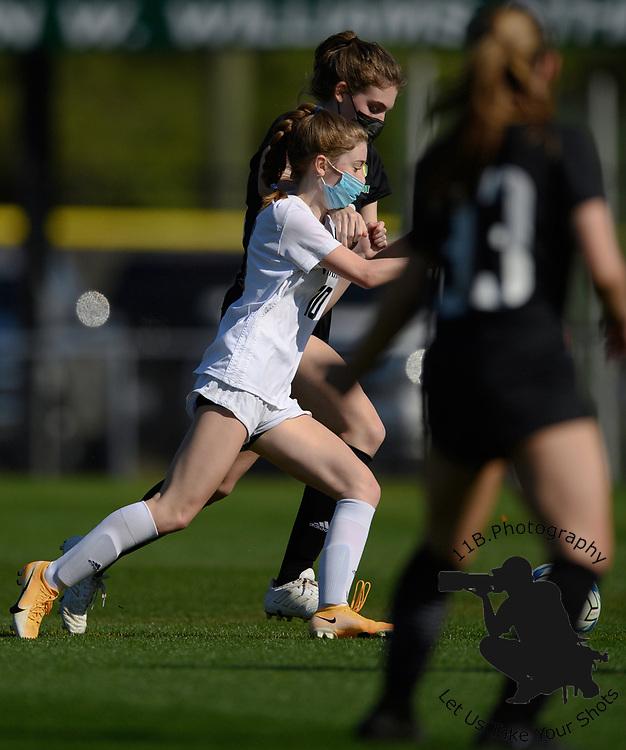 26 April 2021: Pinecrest High School Women's JV Soccer versus Union Pines (scrimmage).