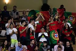 April 6, 2018 - Stockholm, SVERIGE - 180406 Portugals publik under tennismatchen i Davis Cup mellan Sverige och Portugal den 6 April 2018 i Stockholm. (Credit Image: © Kenta JöNsson/Bildbyran via ZUMA Press)