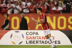 Oscar do S. C. Internacional comemora seu gol na partida contra o Peñarol válida pela Copa Libertadores da América 2011. FOTO: Jefferson Bernardes/Preview.com