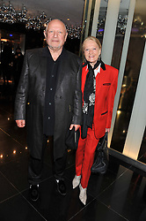 STEVEN BERKOFF and CLARA FISCHER at W London - Leicester Square for the Liberatum Cultural Honour in Spice Market for John Hurt, CBE in association with artist Svetlana K-Lié on 10th April 2013.