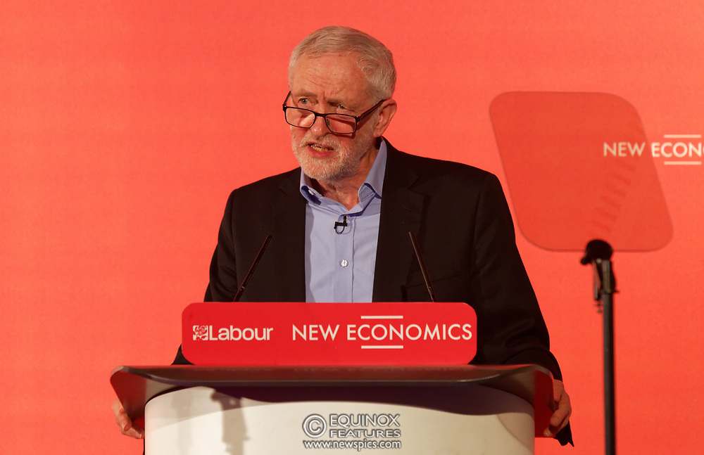 London, United Kingdom - 10 February 2018<br /> Leader of the Labour Party Jeremy Corbyn, speaking at the Labour Party's Alternative Models of Ownership Conference where he spoke about new 21st century forms of democratic ownership of industries.<br /> www.newspics.com/#!/contact<br /> (photo by: EQUINOXFEATURES.COM)<br /> Picture Data:<br /> Photographer: Equinox Features<br /> Copyright: ©2018 Equinox Licensing Ltd. +448700 780000<br /> Contact: Equinox Features<br /> Date Taken: 20180210<br /> Time Taken: 15574301
