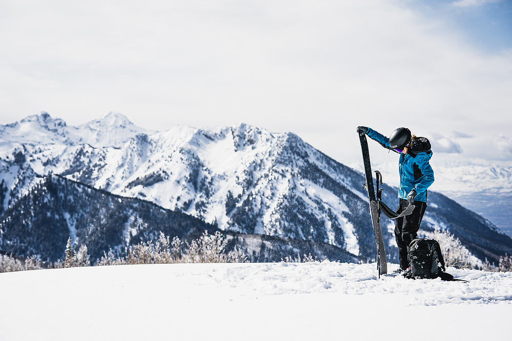 President's Day gift to the Wasatch Range - A wintery reset. Mary McIntyre takes fulls advantage.