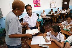 Classroom at Carlos J Finlay secondary school; Havana; Cuba,
