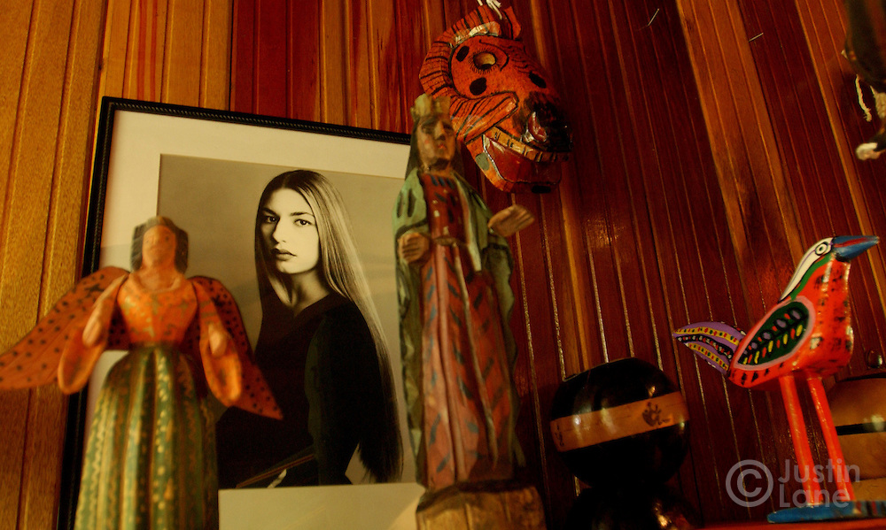 Local crafts and a picture of Sophia Coppolla are seen in the gift shop of the Blancaneaux Lodge, one of Francis Ford Coppola's resorts, in the eastern part of Belize.<br />JUSTIN LANE FOR THE NEW YORK TIMES