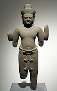 Bodhisattva Lokesvara. Last quarter of the 10th century - early 11th century. Style Khleang, Cambodia (late 10th-early 11th century). Sandstone sculpture