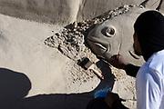 20180128/ Nicolas Celaya - adhocFOTOS/ URUGUAY/ CANELONES/ MARINDIA/ Castillos en la Arena, encuento de esculturas en arena en Marindia. <br /> En la foto: Castillos en la Arena, encuento de esculturas en arena en Marindia.    Foto: Nicolás Celaya /adhocFOTOS