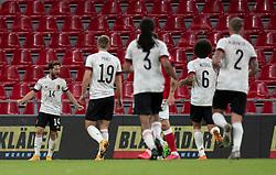 Målscorer Dries Mertens (Belgien) jubler efter scoringen til 0-2 under UEFA Nations League kampen mellem Danmark og Belgien den 5. september 2020 i Parken, København (Foto: Claus Birch).