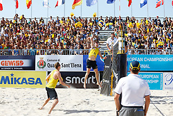 20140607 ITA: EK Beachvolleybal, Cagliari<br /> Christiaan Varenhorst, Jon Stiekema<br /> ©2014-FotoHoogendoorn.nl / Pim Waslander
