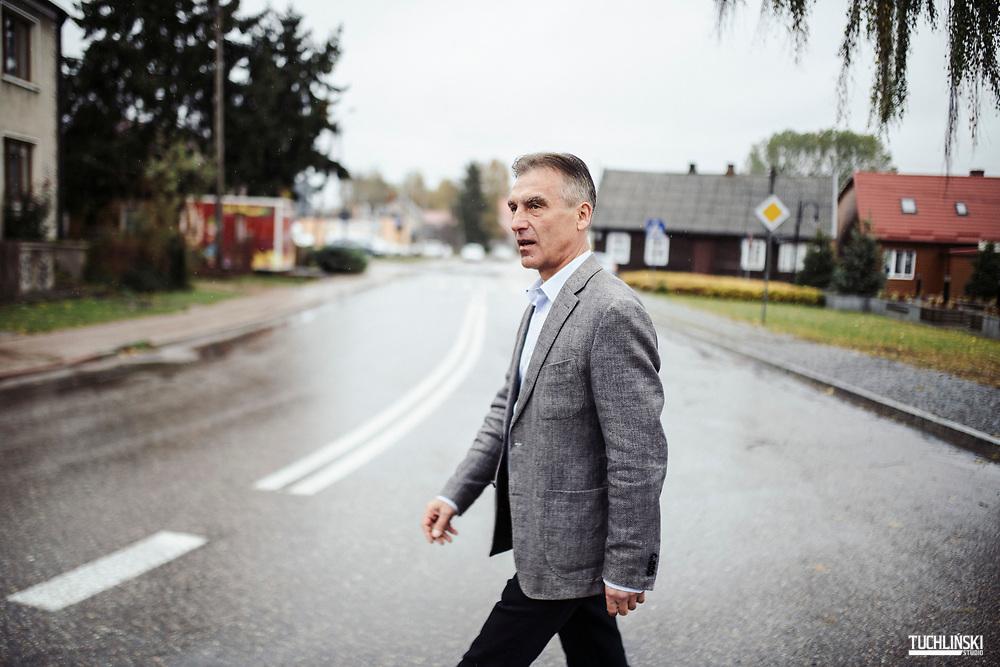 Korycin (podlaskie), Polska; 24.10.2018r. Miroslaw Lech wojt gminy Korycin.<br /> Fot. Adam Tuchlinski dla Newsweek Polska