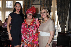 Left to right, ALEX MEYERS, CAMILLA BATMANGHELIDJH and NINA CAMPBELL at a lunch in aid of the charity Kids Company held at Mark's Club, 46 Charles Street, London on 3rd October 2011.