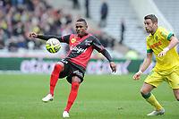 Fotball<br /> Frankrike<br /> Foto: Panoramic/Digitalsport<br /> NORWAY ONLY<br /> <br /> Christophe Mandanne (Guingamp)<br /> Lucas Deaux (Nantes)