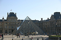 Glass pyramid at the Louvre, Paris, France<br />