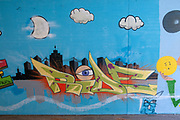 Graffiti on a wall in an underpass. Photographed on the Inn River cycling path, Tyrol, Austria