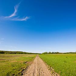 A farm road in Ipswich, Massachusetts.
