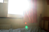Morning sunlight in bedroom