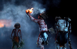 Performers during the Opening Ceremony for the 2018 Commonwealth Games at the Carrara Stadium in the Gold Coast, Australia.