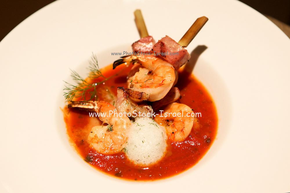 Tomato based Shrimp Chowder