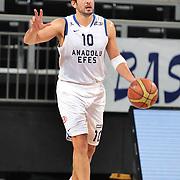 Anadolu Efes's Kerem Tunceri during their Turkish Basketball League Play Off match Anadolu Efes between Pinar Karsiyakaat Sinan Erdem Arena in Istanbul, Turkey, Sunday, May 06, 2012. Photo by TURKPIX