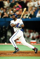 TORONTO, ONTARIO, CANADA - OCTOBER 23:  Joe Carter of the Toronto Blue Jays connect for a World Series winning walk off home run off of Mitch Williams during Game Six of the 1993 World Series at the Skydome on October 23,1993 in Toronto, Ontario, Canada. The Blue Jays won the game 8-6, winning the Series 4-2.  (Photo by Ron Vesely)