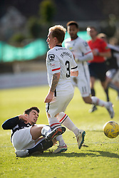 Dundee's Julen Extabegurenn in on Inverness Caledonian Thistle's Carl Tremarco. <br /> Dundee 1 v 1 Inverness Caledonian Thistle, SPFL Ladbrokes Premiership game played at Dens Park, 27/2/2016.