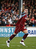 Photo: Steve Bond.<br />Scunthorpe United v Nottingham Forest. Coca Cola League 1. 10/03/2007. Billy Sharp celebrates