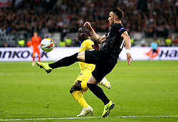 Chelsea's N'Golo Kante (left) and Eintracht Frankfurt's Filip Kostic battle for the ball during the UEFA Europa League Semi final, first leg match at The Frankfurt Stadion, Frankfurt.