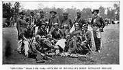 George Brinton McClellan's Men from the book ' The Civil war through the camera ' hundreds of vivid photographs actually taken in Civil war times, sixteen reproductions in color of famous war paintings. The new text history by Henry W. Elson. A. complete illustrated history of the Civil war