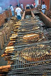 A Festa Nacional do Peixe acontece na cidade litoranea de Tramandai e neste periodo transformou-se na maior festa gastronomica do Rio Grande do Sul. A principal atração é a tainha assada na brasa, herança dos indios que povoavam a região. FOTO: Lucas Uebel/Preview.com