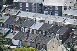 © Licensed to London News Pictures. 17/09/2020. Rhondda Valley, UK. A general view of terraced housing in the Rhondda Valley which will go into local lockdown today after a spike in the coronavirus infection rate in the borough of Rhondda Cynon Taff in south Wales.. Photo credit: Robert Melen/LNP
