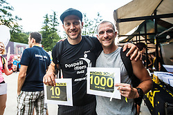 Uros Kralj and Jure Kosir at 10th Nocna 10ka 2016, traditional run around Bled's lake, on July 09, 2016 in Bled,  Slovenia. Photo by Grega Valancic / Sportida