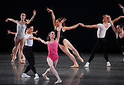 GASTON DE CARDENAS / EL NUEVO HERALD -- MIAMI, FL -- 1/28/2009 -- Trisha Albertson and Alex Wong principle dancers with The Miami City Ballet performs Symphony in Three Movement at the Arsht Center in Miami accompanied by the Cleveland Orcherstra.