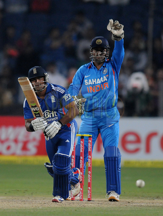 Samit Patel of England bats during the first Airtel T20 Match between India and England held at Subrata Roy Sahara stadium in Pune on the  20th December 2012..Photo by  Pal Pillai/BCCI/SPORTZPICS ..