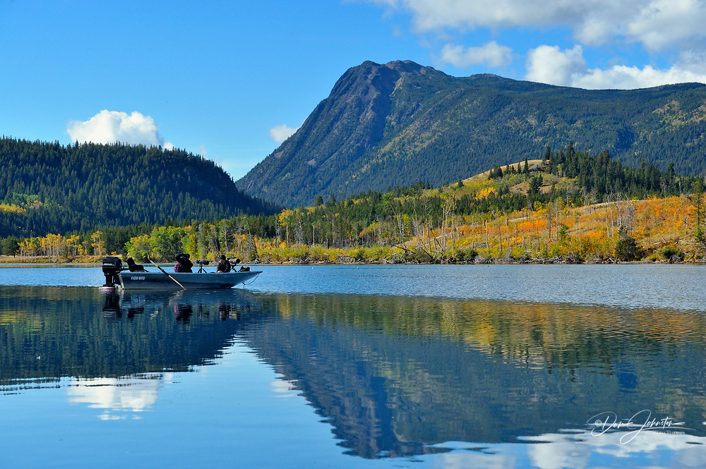 Grizzly bear viewing and photography from a boat., Chilcotin Wilderness, BC Interior, Canada