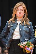 Koningsdag 2018 in Groningen / Kingsday 2018 in Groningen.<br /> <br /> Op de foto: Prinses Alexia ///  Princess Alexia