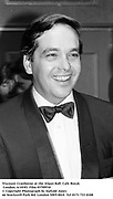 Viscount Cranborne at the Afgan Ball. Cafe Royal, London. 6/10/83. Film 83709f10<br />© Copyright Photograph by Dafydd Jones<br />66 Stockwell Park Rd. London SW9 0DA<br />Tel 0171 733 0108