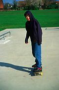AF5CNC Children playing at a skate park