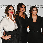 Eva Longoria (R), guest and Maria Bravo (L) Arrivers at The Global Gift Gala red carpet - Eva Longoria hosts annual fundraiser in aid of Rays Of Sunshine, Eva Longoria Foundation and Global Gift Foundation on 2 November 2018 at The Rosewood Hotel, London, UK. Credit: Picture Capital
