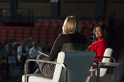 May 4, 2019 - Seattle, Washington, U.S - Seattle, Washington: Representative PRAMILA JAYAPAL appears at a fireside chat at the Crosscut Festival. Staff reporter MELISSA SANTOS moderated the discussion at Seattle University. The two-day event featured conversations with journalists, politicians, authors and other civic, business and cultural leaders taking on the most important issues of our times. (Credit Image: © Paul Christian Gordon/ZUMA Wire)