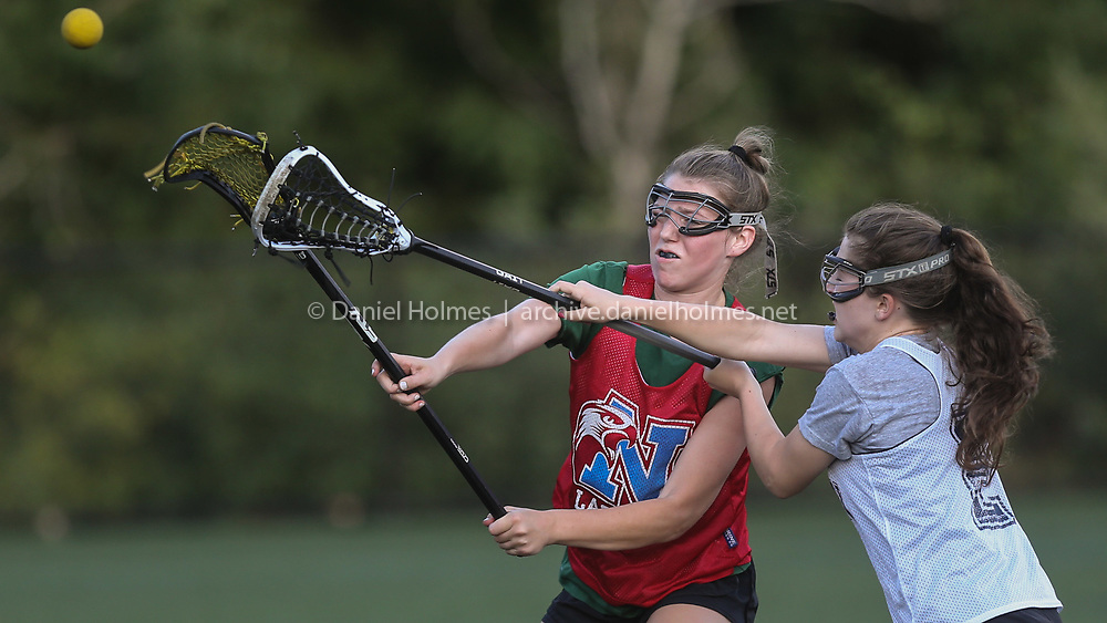 Natick's Victoria Norchi shoots during the Gold Star Lacrosse League game against Franklin at Medway High School, on Jul. 20, 2020. [Daily News and Wicked Local Photo/Dan Holmes]
