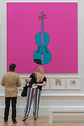 Untitled (Violin) by Sir Michael Craig-Martin RA £120,000 - The Royal Academy's 249th Summer Exhibition - co-ordinated by Eileen Cooper RA. The hanging committee will consist of Royal Academicians Ann Christopher, Gus Cummins, Bill Jacklin, Fiona Rae, Rebecca Salter and Yinka Shonibare. This year, the Architecture Gallery will be curated by Farshid Moussavi RA. The exhibition, sponsored by Insight Investment is open to the public 13 June – 20 August 2017. London 07 June 2017.