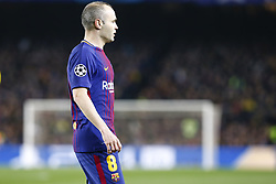 March 14, 2018 - Barcelona, Catalonia, Spain - FC Barcelona midfielder Andres Iniesta (8) during UEFA Champions League match between FC Barcelona and Chelsea FC at Camp Nou Stadium corresponding of Round of 16, Second leg on March 14, 2018 in Barcelona, Spain. (Credit Image: © Urbanandsport/NurPhoto via ZUMA Press)