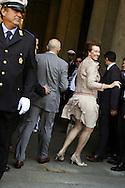 30/ 05/06 Milano, Letizia Moratti al suo arrivo a Palazzo Marino come nuovo sindaco di Milano. 30/05/06 Milan, Letizia Moratti on his arrival at Palazzo Marino as new mayor of Milan.