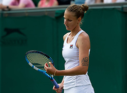 LONDON, ENGLAND - Monday, July 1, 2019: Karolina Pliskova (CZE) during the Ladies' Singles first round match on Day One of The Championships Wimbledon 2019 at the All England Lawn Tennis and Croquet Club. (Pic by Kirsten Holst/Propaganda)